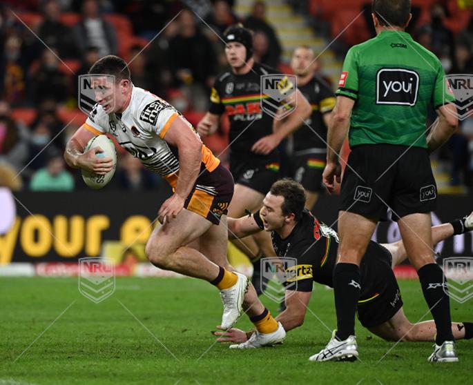 NRL 2021 RD19 Penrith Panthers v Brisbane Broncos - Ethan Bullemor